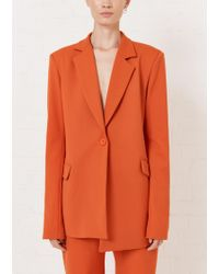 House of Holland - Orange Tailored Suit Jacket - Lyst
