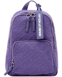 House of Holland - 'hoh' Purple Embroidered Backpack - Lyst