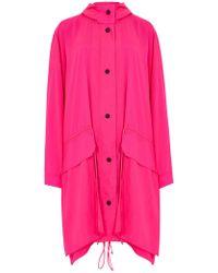 House of Holland - Mega Oversized Ripstop Rain Coat (vivid Pink) - Lyst