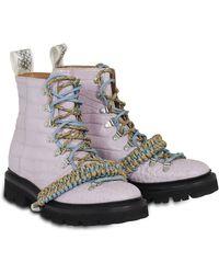 House of Holland - X Grenson Hiking Boot (lilac Crocodile) - Lyst