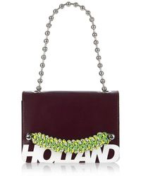 House of Holland - 'margot' Cross Body Bag (oxblood Brown) - Lyst