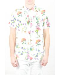 Oxford Lads - Flower Print Short Sleeve Woven - Lyst