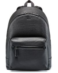 HUGO - Embossed Italian Leather Backpack With Laptop Pocket - Lyst