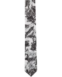 HUGO - Silk Tie With Snow Camouflage Print - Lyst