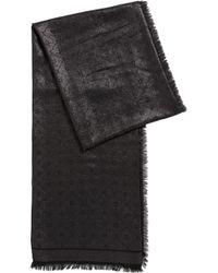 HUGO - Modal-blend Jacquard Scarf With Logo Detail - Lyst