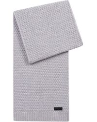 HUGO - Virgin-wool Scarf With Jacquard-knit Structure - Lyst
