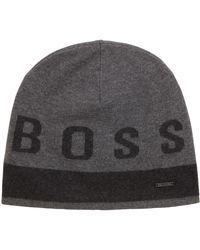 Boss Cap In Cotton Blend   t-serio  in Gray for Men - Lyst 19f8ebdd930a