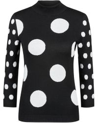 HUGO - Slim-fit Jumper With Jacquard-knitted Polka-dot Motif - Lyst