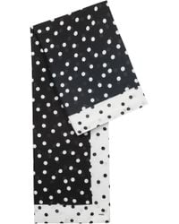 HUGO - Dot-print Monochrome Scarf In Modal And Cotton - Lyst
