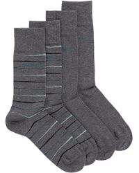 BOSS - Two-pack Of Regular-length Socks With Combed Finishing - Lyst