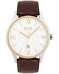 BOSS - Governor Classic, Emed Leather Watch | 1513486 - Lyst