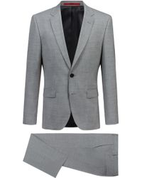 HUGO - Regular-fit Suit In Travel-friendly Stretch Fabric - Lyst