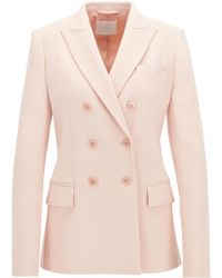 BOSS - Gallery Collection Relaxed-fit Double-breasted Blazer - Lyst