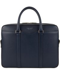 d2903dd78a BOSS - Laptop Bag In Finely-textured Leather   signature s Doc  - Lyst