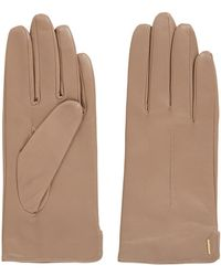 BOSS - Lambskin Leather Gloves With Wool-blend Lining - Lyst