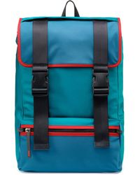 HUGO - Nylon Gabardine Backpack With Leather Trims - Lyst