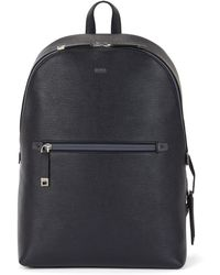 BOSS - Backpack In Printed Italian Leather - Lyst