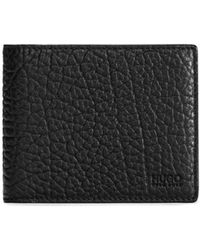 HUGO - Bifold Wallet In Grained Leather - Lyst