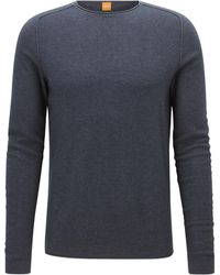 BOSS - Regular-fit Sweater In Micro-structure Fabric - Lyst