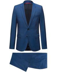 HUGO - Wool Suit, Extra Slim Fit | Astian/hets - Lyst