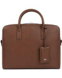 BOSS - Single Document Case In Emed Italian Leather - Lyst