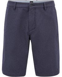 Slim-fit shorts in stretch-cotton-blend dot structure BOSS htc0P2E