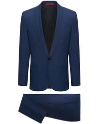 HUGO - Extra-slim-fit Tuxedo Suit In A Virgin-wool Blend - Lyst