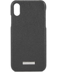 BOSS - Signature Collection Iphone X Case In Italian Calf Leather - Lyst