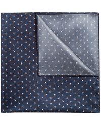 HUGO - Printed Pocket Square In Silk Twill - Lyst