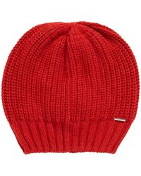 BOSS - Chunky-knit Beanie Hat In Blended Yarns With Cashmere - Lyst