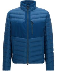 BOSS Green - Water-repellent Coat In A Regular Fit - Lyst