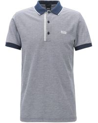 4fed289c632b0 BOSS - Slim-fit Logo Polo Shirt In Cotton Piqué - Lyst