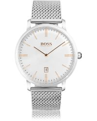 BOSS - Stainless Steel Mesh Watch | 1513481 - Lyst
