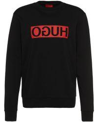 HUGO - Cotton Logo Sweatshirt | Dicago - Lyst