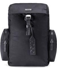 HUGO - Nylon Gabardine Backpack With Smooth Leather Trims - Lyst