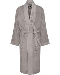BOSS - Unisex Dressing Gown In Egyptian Cotton - Lyst