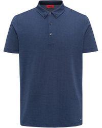 24717777 HUGO - Regular-fit Polo Shirt In Mercerized Micro Jacquard - Lyst