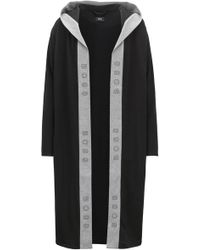 BOSS - Hooded Dressing Gown In Heavyweight Jersey With Logo-print Trim - Lyst