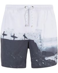 18cc11a3e1 BOSS Swim Shorts 'batfish' In A Quick-drying Material in Gray for ...