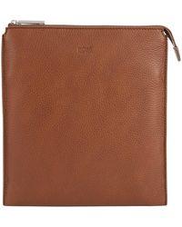 BOSS - Envelope Bag In Grainy Italian Leather - Lyst