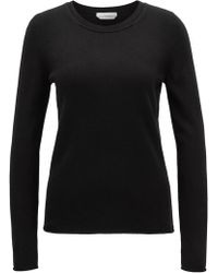 BOSS - Cashmere Sweater With Rolled Edges - Lyst