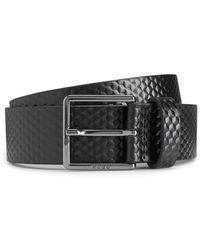Italian-leather belt with reverse logo HUGO BOSS vCv8yON
