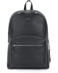 BOSS - Backpack In Printed Italian Calfskin Leather - Lyst