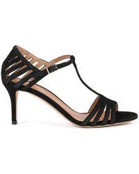 BOSS - Strappy Sandals In Italian Suede - Lyst