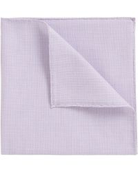 Rolled-hem pocket square in cotton-blend jacquard BOSS YqfFAqy