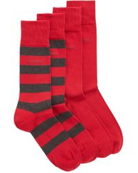 BOSS - Two-pack Of Socks In A Combed Cotton Blend - Lyst