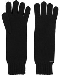 BOSS - Longline Gloves With Metallic Logo Badge - Lyst
