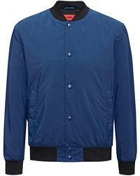 HUGO - Bomber Jacket In A Water-repellent Technical Blend - Lyst