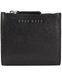 BOSS - Billfold Wallet In Emed Italian Calf Leather - Lyst