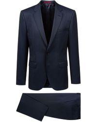 HUGO - Regular-fit Suit In A Pinstripe Virgin-wool Blend - Lyst